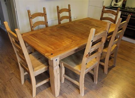 pier 1 kitchen table and chairs brazil oak dining table 6 chairs and side table set by