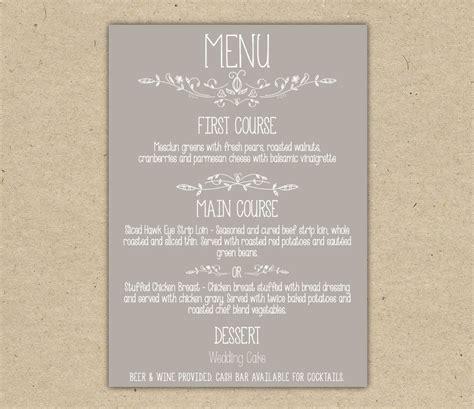 dinner menu template kitchen dining