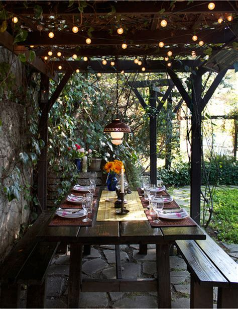 back porch lights 9 ways to decorate with patio lights the honeycomb home