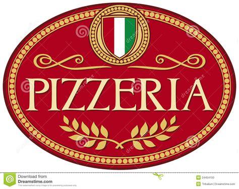 Decorator Pattern Java Pizza by Pizzeria Label Design Stock Photo Image 24454150