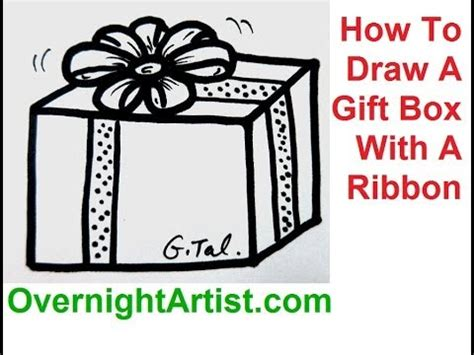 how to draw a gift box with a ribbon draw christmas