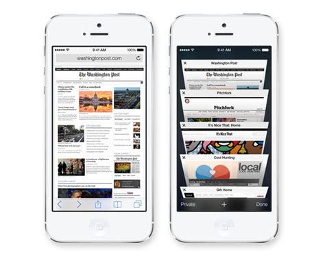 is safari on iphone ios 7 interface and new features detailed the