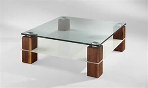 Table Basse Tendance : la table basse bois et verre en 43 photos d 39 int rieur ~ Teatrodelosmanantiales.com Idées de Décoration