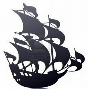 Old sailing pirate ship template stencil mural 123rfcom for Pirate ship sails template