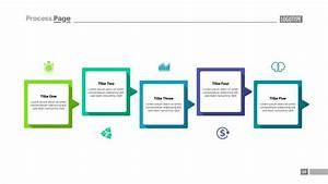 Process Diagram With Five Steps Template Vector