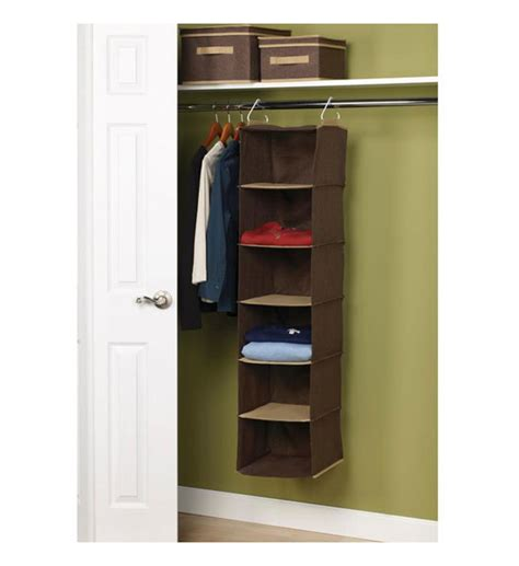 hanging shelf organizer in hanging closet shelves