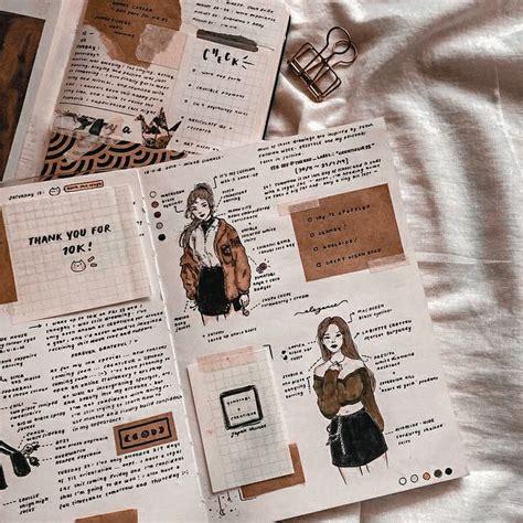 journal aesthetic brown grunge beige scrapbook journaling kpop mood edit bullet