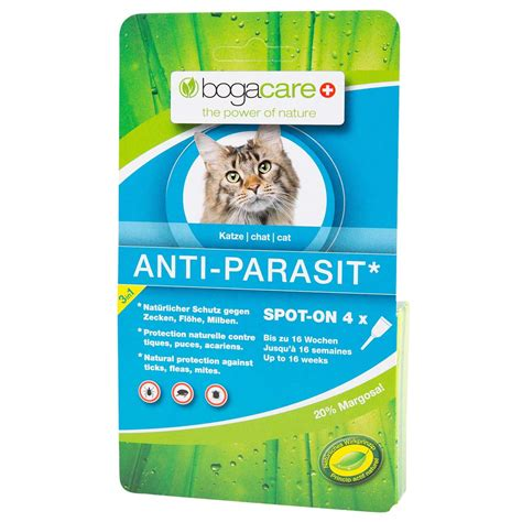 bogacare spot  fuer katzen anti parasit alsa hundewelt