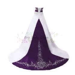 eric wedding dresses aliexpress buy white and purple wedding dresses plus size satin embroidery beaded wedding