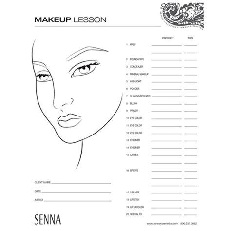 nigel beauty makeup artist face chart