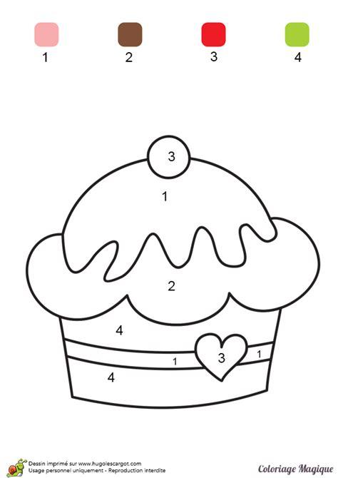 jeux de cuisine faire des gateaux coloriage magique maternelle un joli gâteau