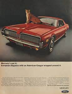 Vintage Car Ads Mercury Cougar