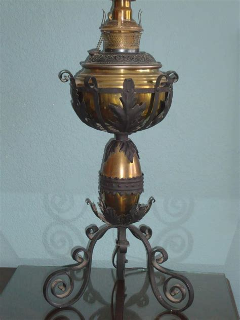 antique oil l parts antique bradley hubbard oil table lamp brass arts crafts