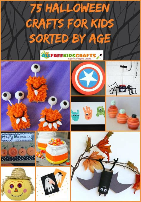 halloween crafts  kids sorted  age