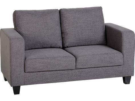 seconique tempo  seater sofa   box grey fabric