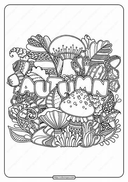 Coloring Printable Autumn Pdf Knife