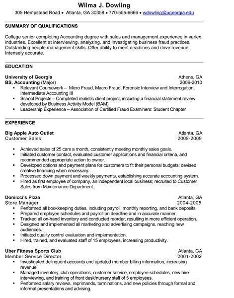 resume exles colege senior college senior resume best resume collection