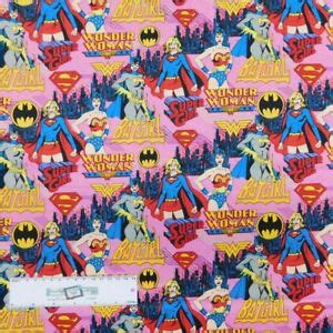 patchwork quilting sewing fabric girl super heroes xcm