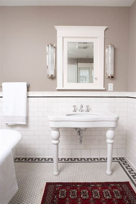 white subway tiles black accents and subway tiles on
