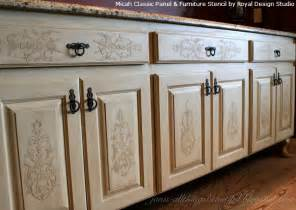 kitchen door furniture embossed stenciling on furniture and cabinet doors and