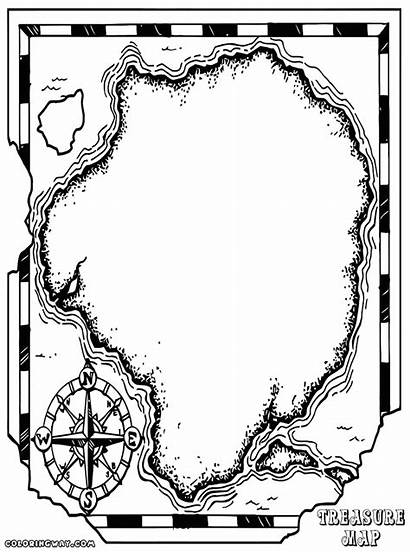Treasure Map Coloring Template Colorings