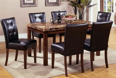 black dining room table and chairs mission style dining room set with granite top dining