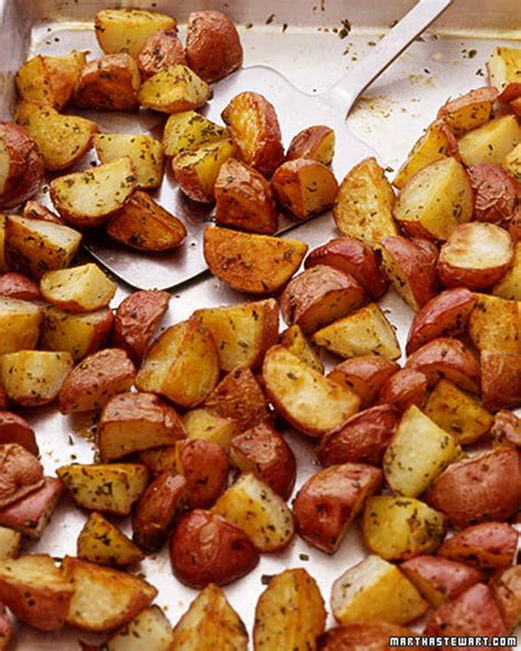 potatoe recipies roasted red potatoes recipe video martha stewart