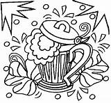 Beer Coloring Pages Shamrocks Glass Template sketch template