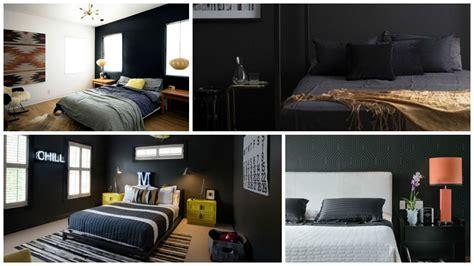 fotos de dormitorios  paredes color negro