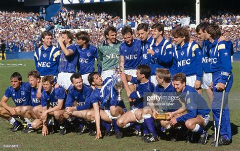 Everton in the community is a private limited company making use of the 'limited' exemption, registered in england and wales with registered number 04851552 (eitc). The Everton team celebrating with the League Championship trophy... News Photo - Getty Images