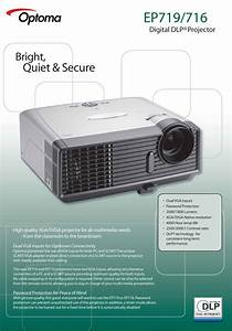 Download Free Pdf For Optoma Ep719 Projector Manual