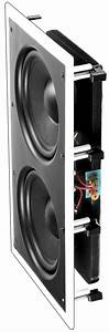 In Wall Subwoofer Dual 8 U0026quot  Injected Woofers Back Bridge