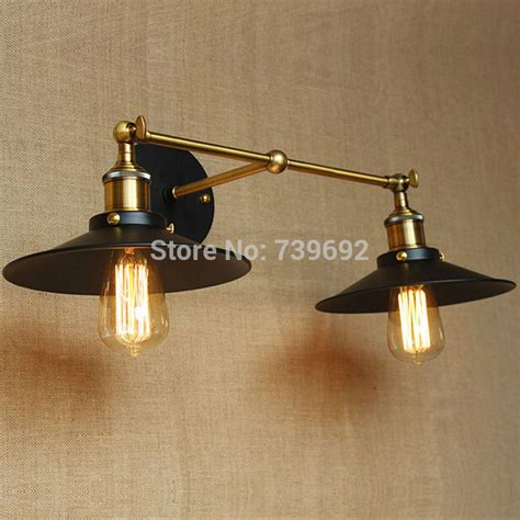 dia 22cm vintage industrial wall mount light