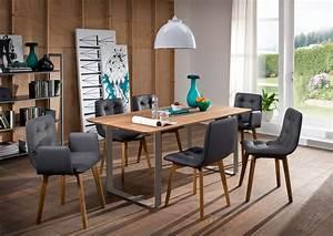 Esstisch Wildeiche Geölt : oker esstisch material massivholz metall wildeiche ge lt ~ Watch28wear.com Haus und Dekorationen