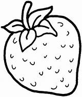 Strawberry Clipart Coloring Clip sketch template