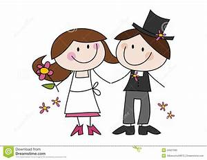 Dessin Couple Mariage Couleur : couples mignons de mariage de dessin anim illustration de ~ Melissatoandfro.com Idées de Décoration