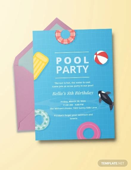 20+ Pool Party Invitation Designs PSD AI EPS Word