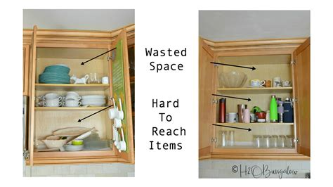 Shelves For Kitchen Cupboards by How To Add Shelves To Kitchen Cabinets H2obungalow
