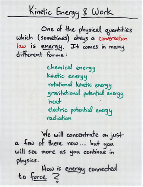 We know from the study of newton's laws in dynamics: Kinetic Energy and Work