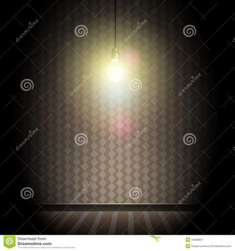 light bulb in room royalty free stock photo