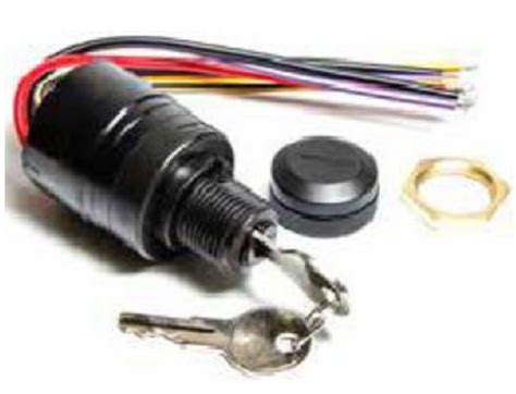 mercury ignition key switch  push  choke replaces