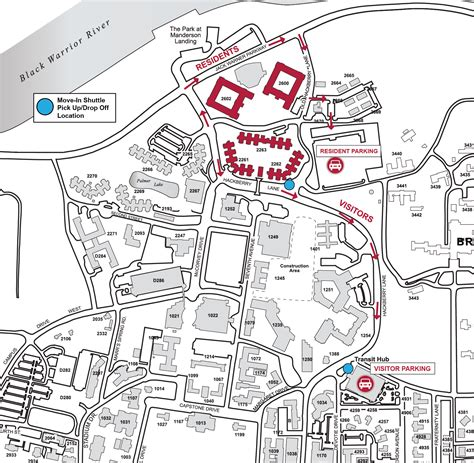 Uab Parking Deck Map by Cus Drive Housing And Residential