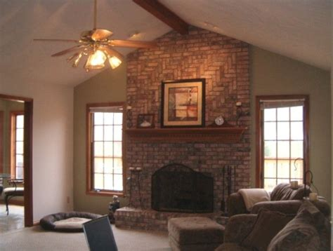 living room ideas with brick fireplace how to decorate a brick fireplace mantel 5 ways for Small