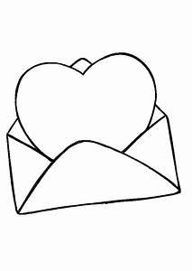 Dessin Saint Valentin : coloriage saint valentin c ur et enveloppe ~ Melissatoandfro.com Idées de Décoration