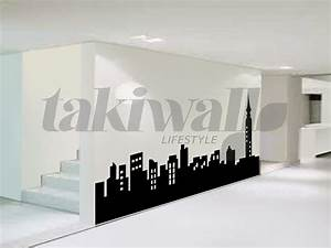 new york skyline wall sticker peenmediacom With kitchen cabinets lowes with new york city canvas wall art
