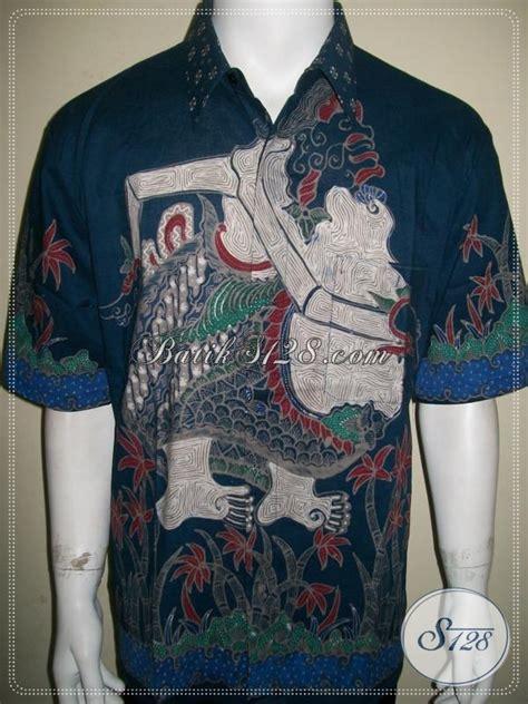 batik semar batik tulis pria motif wayang semar lengan