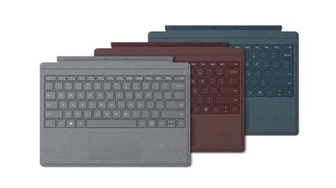 surface pro keyboard colors the signature type cover and surface pen the microsoft