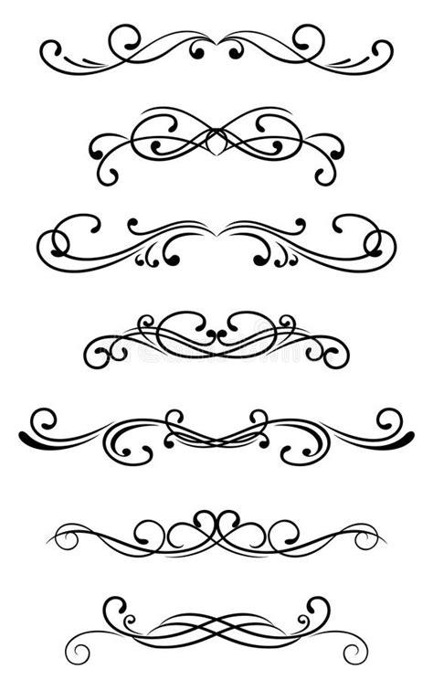 Swirl elements stock vector. Illustration of filigree