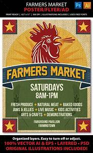 Farmers Market Event Poster  Flyer Or Ad Template  Design Download       Graphicriver Net  Item