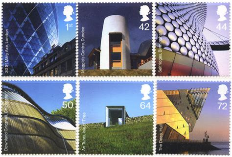 Modern Architecture, Great Britain stamps 20 June 2006